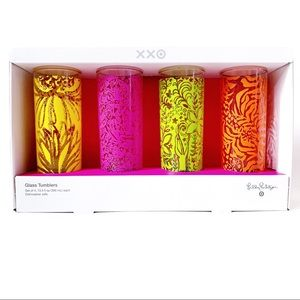 🆕 Lilly Pulitzer Target Cocktail Set 4 Glasses